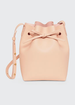 Mansur Gavriel Mini Coated Leather Bucket Bag