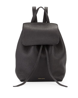 Mansur Gavriel Tumbled Leather Mini Backpack