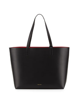 Mansur Gavriel Large Leather Tote Bag with Coated Interior