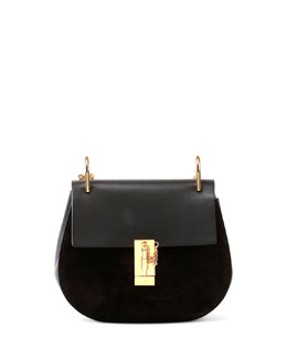 Chloe Drew Small Suede & Leather Shoulder Bag