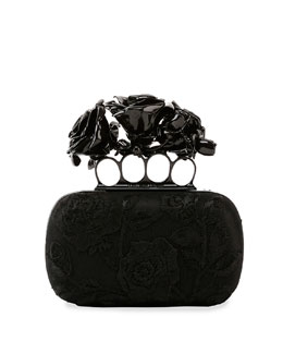 Rose Knuckle-Duster Box Clutch Bag