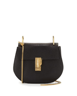 Chloe Drew Small Lambskin Shoulder Bag, Black