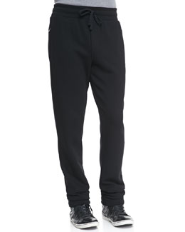 Dolce & Gabbana Sweatpants with Logo Plaque, Black