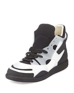 Maison Martin Margiela Neo High-Top Sneakers, Black/White