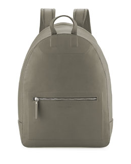 Maison Margiela Zip-Top Leather Backpack, Olive Green