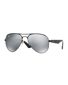 Ray-Ban Aviator Sunglasses with Mirrored Lenses