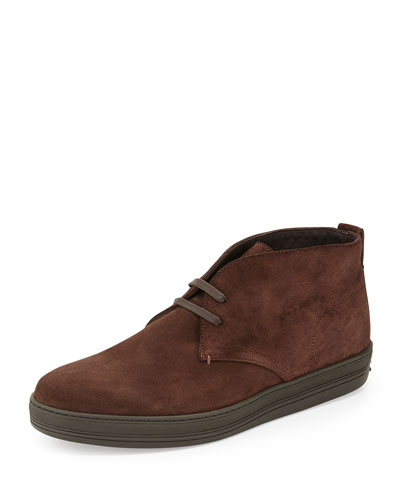 Clarence Suede Chukka Boot, Dark Brown
