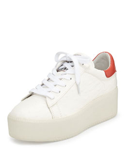 Ash Cult Lace Up Platform Sneaker, White