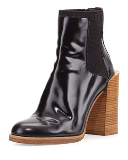 Emerson Polished Leather Ankle-Boot