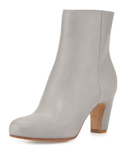 Soft Leather Mid-Calf Bootie