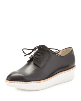 Derek Lam 10 Crosby Gordon Leather Lace-Up Platform Oxford