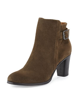 Ada Suede Tabbed Ankle Boot