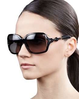 Gucci Open-Temple Square Sunglasses