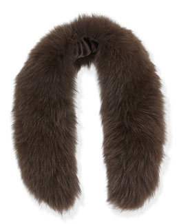 Izzy Fox Fur Collar, Brown
