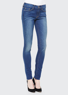 FRAME Forever Karlie Skinny Mid-Rise Jeans, Columbia Road
