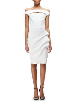 La Petite Robe di Chiara Boni Melania Off-the-Shoulder Ruch-Skirt Cocktail Dress