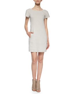 Jamelya Short-Sleeve Linen-Blend Dress
