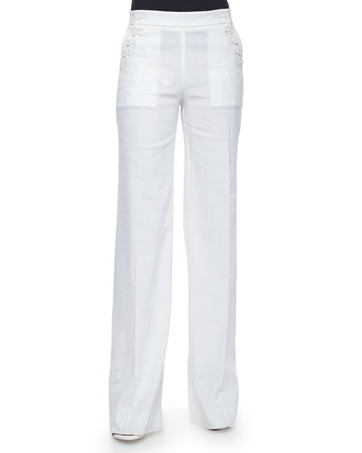 Alrigo High-Waisted Linen Pants
