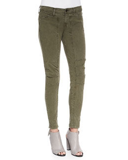 J Brand Jeans Ginger Patchwork Utility Pants, Jungle