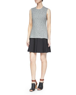 Derek Lam 10 Crosby Sleeveless Cutout-Back Flared Skirt Dress