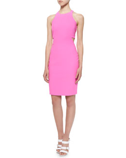 Elizabeth and James Lela Ponte Racerback Cutout Sheath Dress