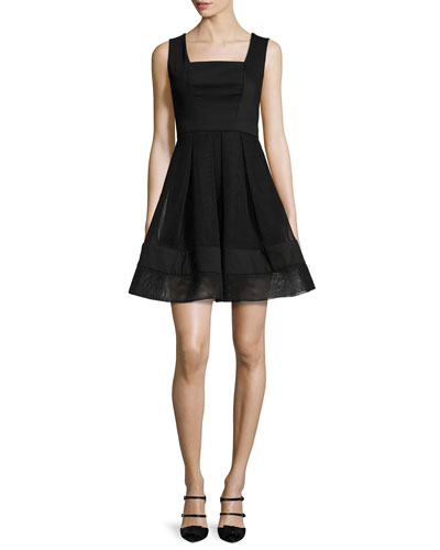 Rafaelo Sleeveless A-Line Mini Dress, Black