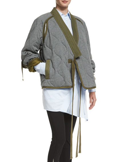 3.1 Phillip Lim Quilted Utility Kimono Jacket, Gray : quilted kimono jacket - Adamdwight.com