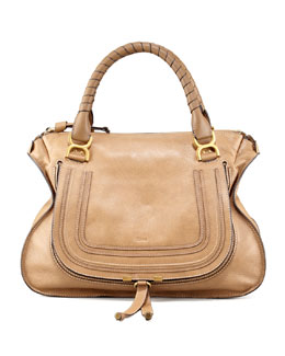 Chloe Marcie Large Shoulder Bag, Nut