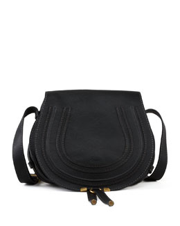 Chloe Marcie Horseshoe Crossbody Satchel Bag, Black