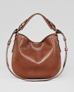 Givenchy Obsedia Small Leather Hobo Bag, Brown