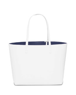 Mansur Gavriel Large Leather Tote Bag with Coated Interior, Blue/Royal