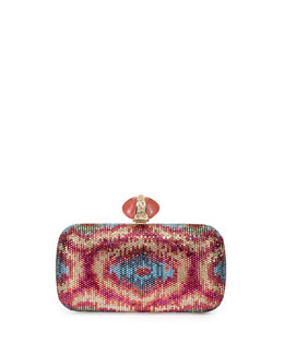 Judith Leiber Couture New Soap Dish Crystal Clutch Bag, Multi