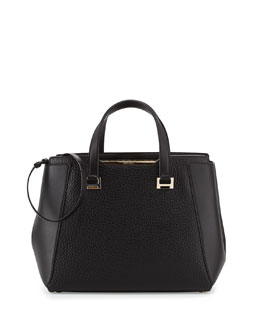 Jimmy Choo Alfie Large Leather Tote Bag, Black