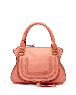 Chloe Marcie Medium Shoulder Bag, Coral