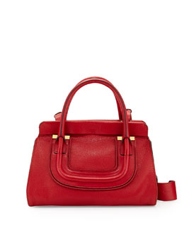 Chloe Everston Medium Double Satchel Bag, Red