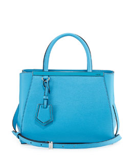 Fendi 2Jours Mini Shopping Tote, Medium Blue