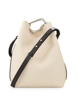3.1 Phillip Lim Quill Calfskin Bucket Bag, Powder