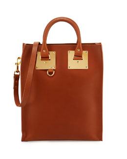 Sophie Hulme Mini Albion North-South Tote Bag, Tan