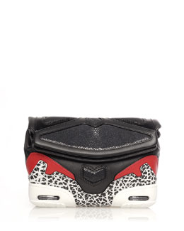 Alexander Wang Stingray Colorblock Sneaker Clutch Bag
