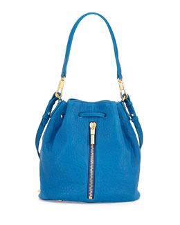 Elizabeth and James Cynnie Large Grain Mini Bucket Bag, Marina