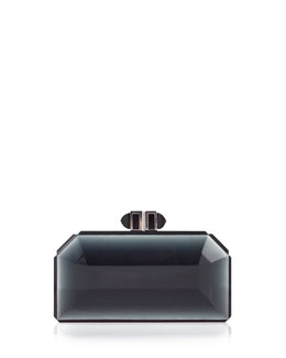 Judith Leiber Couture Faceted Box Clutch, Smoke