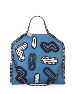 Stella McCartney Falabella Fold-Over Embroidery Tote