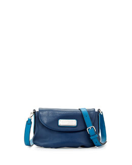 MARC by Marc Jacobs New Q Percy Flap Crossbody Bag, Deep Blue Multi