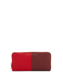 MARC by Marc Jacobs Sophisticato Halfsies Slim Zip Wallet