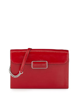 MARC by Marc Jacobs Pegg Patent Crossbody Bag, Rosey Red