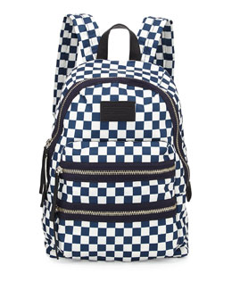 MARC by Marc Jacobs Loco Domo Packrat Checkered Backpack, Deep Blue