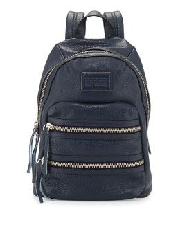 MARC by Marc Jacobs Domo Leather Biker Backpack, Deep Sea Navy