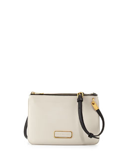 MARC by Marc Jacobs Ligero Double Percy Shoulder Bag, White/Black