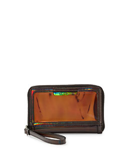 MARC by Marc Jacobs Crystal Clear Wingman Wristlet Wallet, Gunmetal