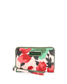 MARC by Marc Jacobs Sophisticato Jerrie Rose Wristlet Wallet, Desert Rose